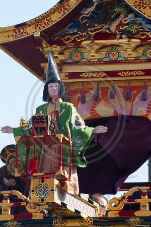 Marionette on float, Takayama Spring Festival